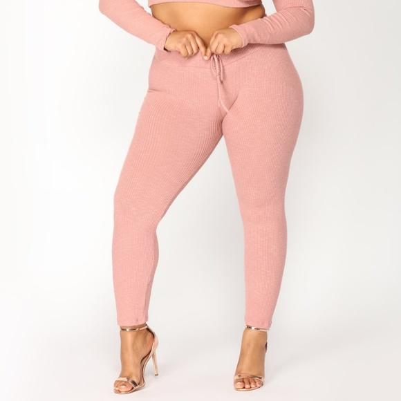be9918f2756f2 Fashion Nova Pants | Repetition Leggings Mauve Price Firm | Poshmark